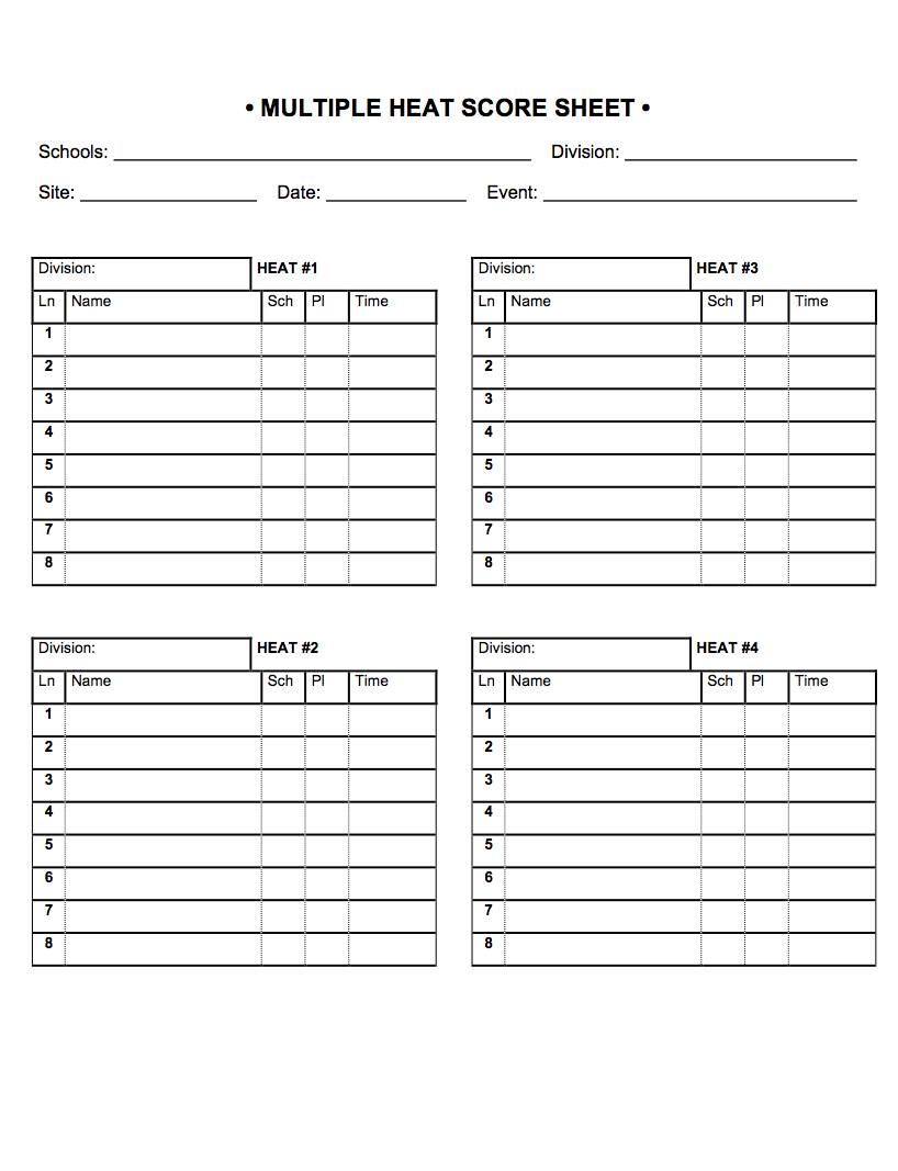 event run sheet template - track field meet sheets bing images